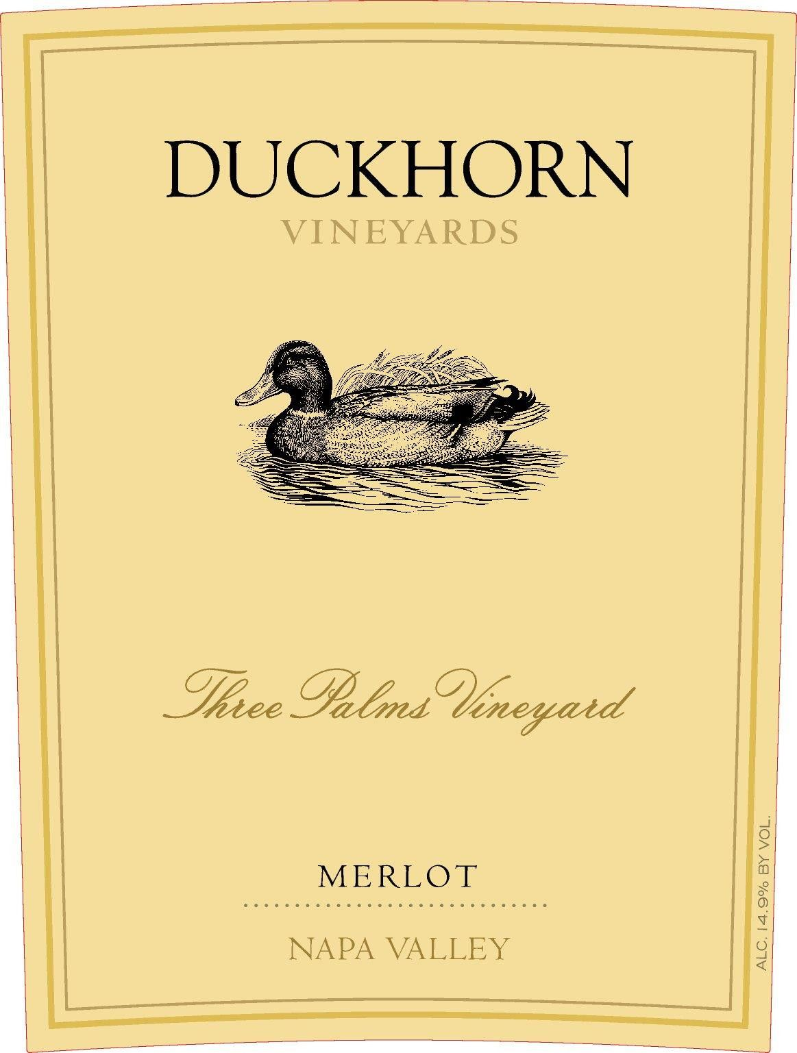 Duckhorn Three Palms Merlot 2016 Front Label
