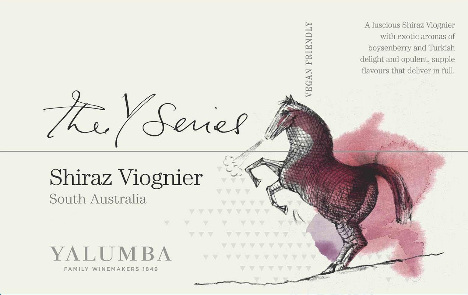 Yalumba Y Series Shiraz and Viognier 2017  Front Label
