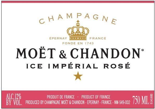 Moet & Chandon Ice Imperial Rose  Front Label