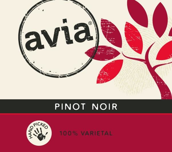 Avia Pinot Noir 2016  Front Label