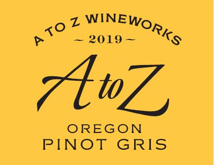 A to Z Pinot Gris 2019  Front Label