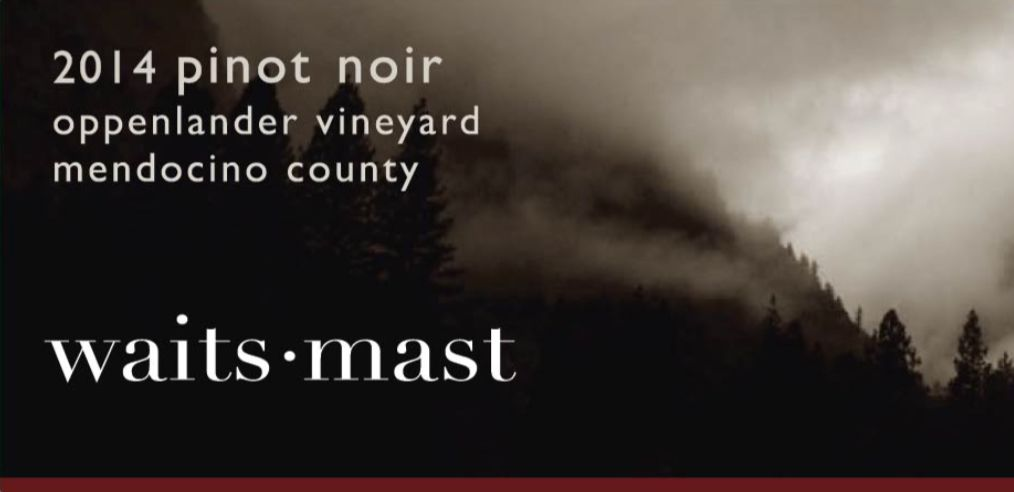 Waits-Mast Family Cellars Oppenlander Pinot Noir 2014  Front Label