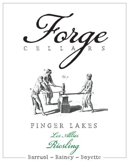 Forge Cellars Les Allies Riesling 2015  Front Label