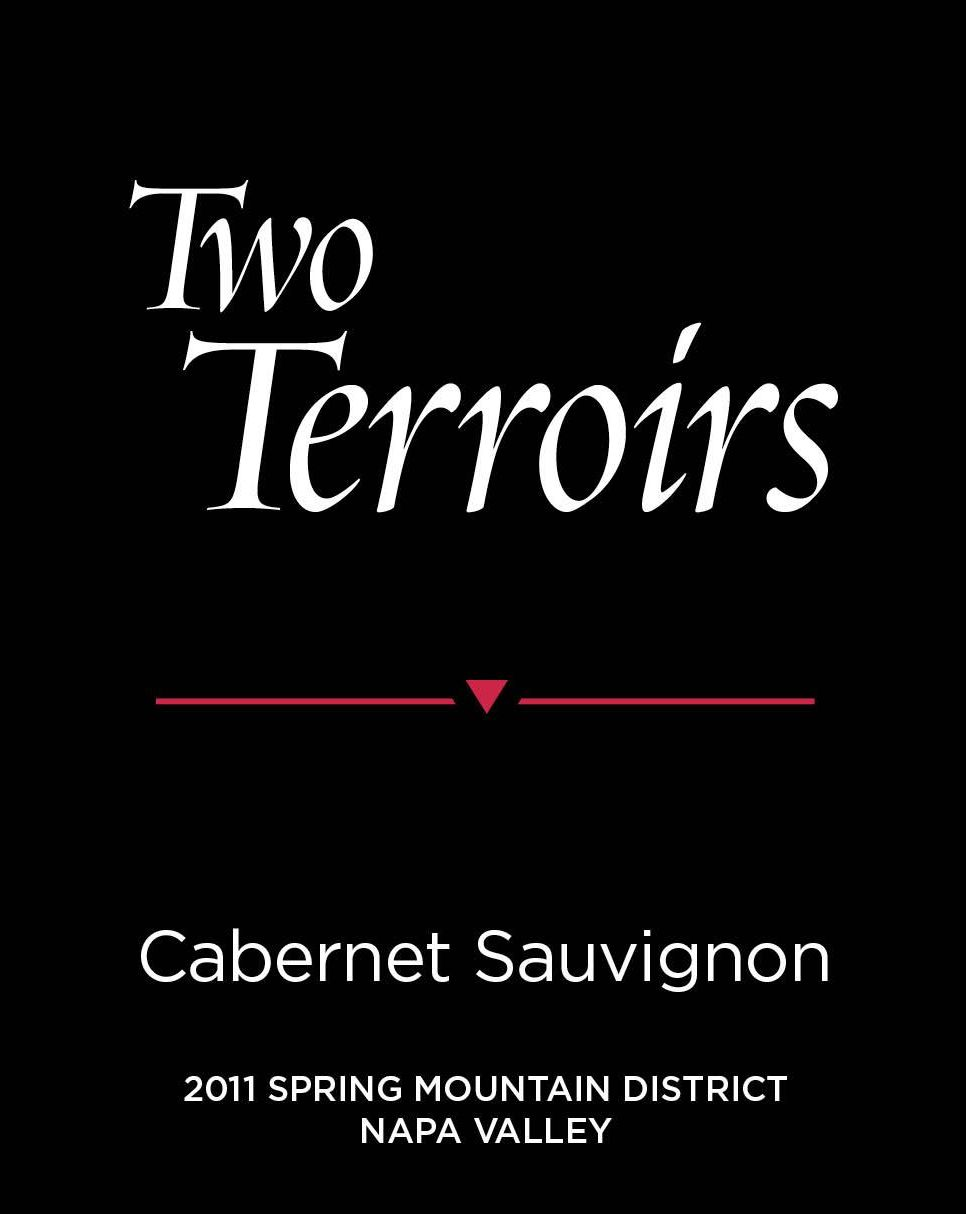Two Terroirs Spring Mountain District Cabernet Sauvignon 2011  Front Label
