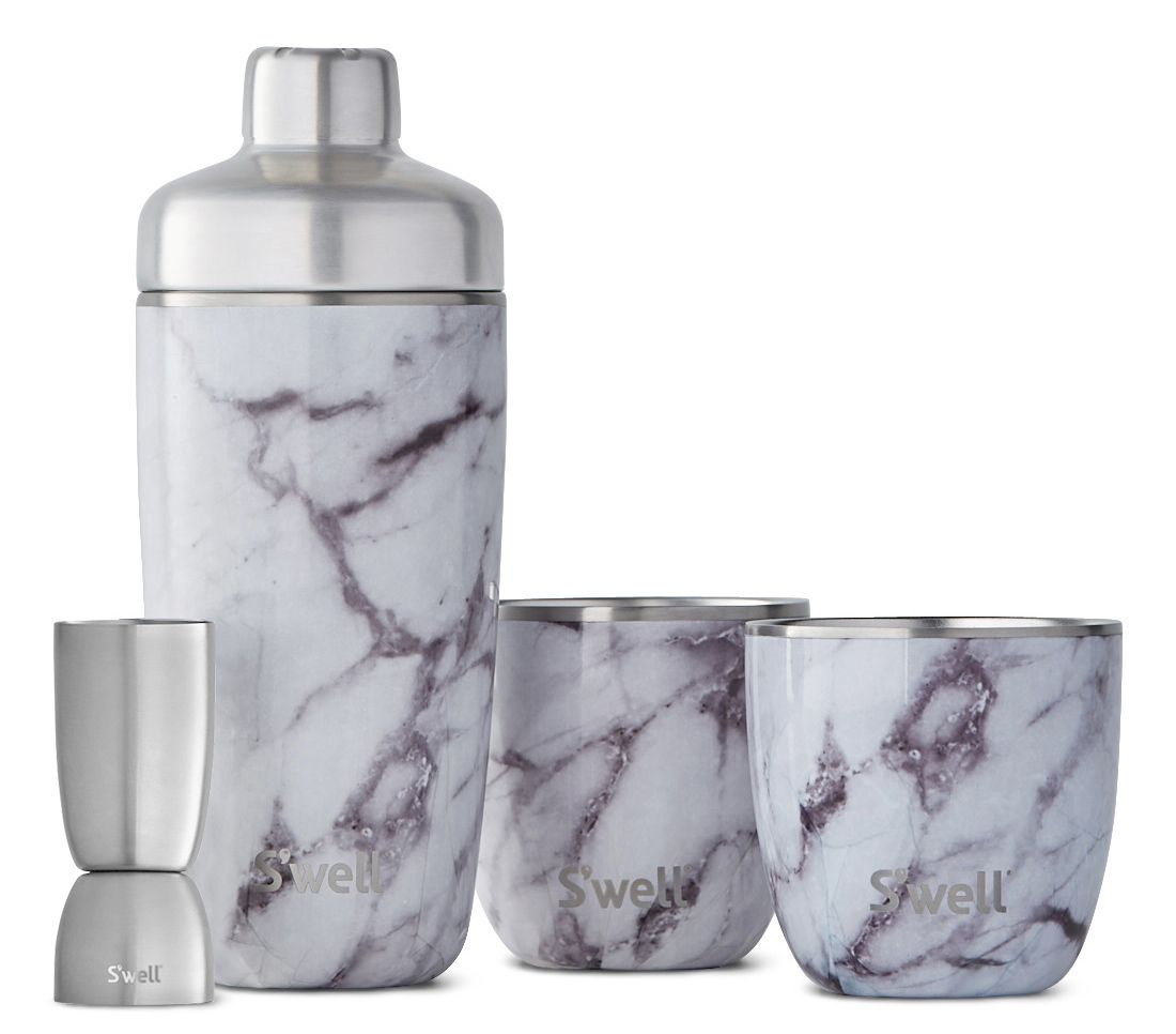 wine.com White Marble Cocktail Kit by S'well  Gift Product Image