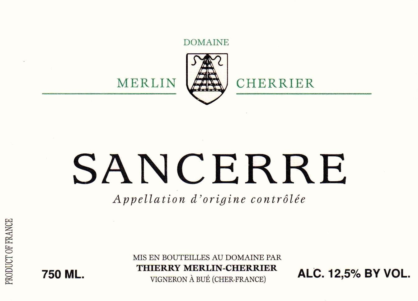 Merlin-Cherrier Sancerre 2018  Front Label