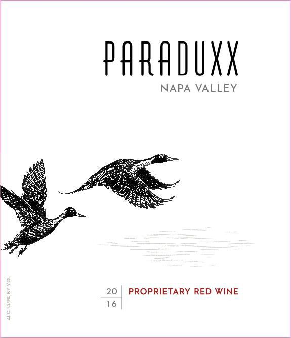 Paraduxx Proprietary Red (375ML half-bottle) 2016  Front Label
