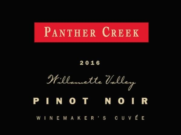 Panther Creek Winemaker's Cuvee Pinot Noir 2016 Front Label