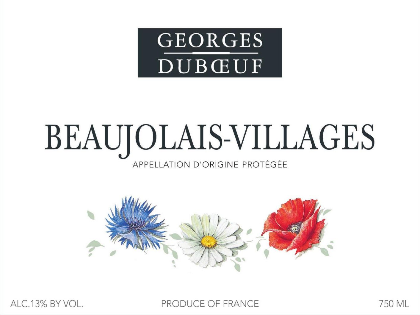 Duboeuf Beaujolais Villages 2019  Front Label