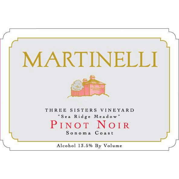 Martinelli Three Sisters Vineyard Pinot Noir 2004 Front Label
