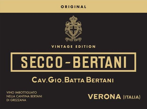 Bertani Secco-Bertani Original Vintage Edition 2015 Front Label