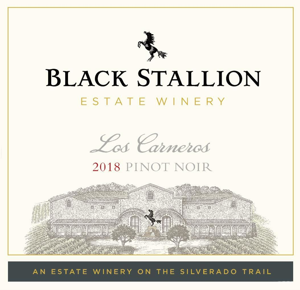 Black Stallion Winery Los Carneros Pinot Noir 2018  Front Label