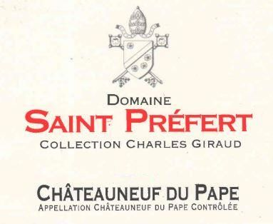 Domaine Saint Prefert Chateauneuf-du-Pape Collection Charles Giraud 2016 Front Label