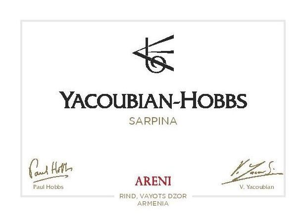 Yacoubian-Hobbs Red Sarpina 2016  Front Label