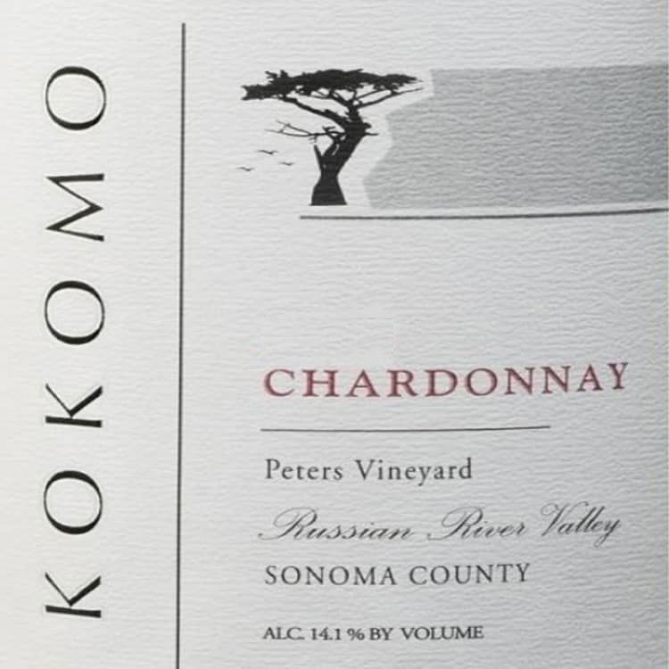 Kokomo Wines Peters Vineyard Chardonnay 2017  Front Label