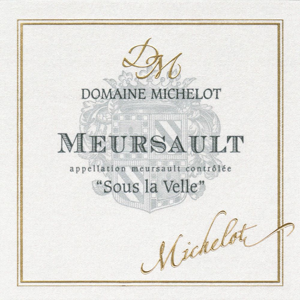 Domaine Michelot Meursault Sous la Velle (375ML half-bottle) 2016  Front Label
