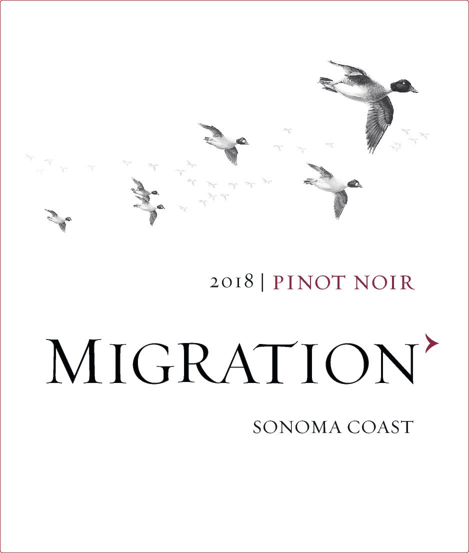 Migration Sonoma Coast Pinot Noir (375ML half-bottle) 2018  Front Label