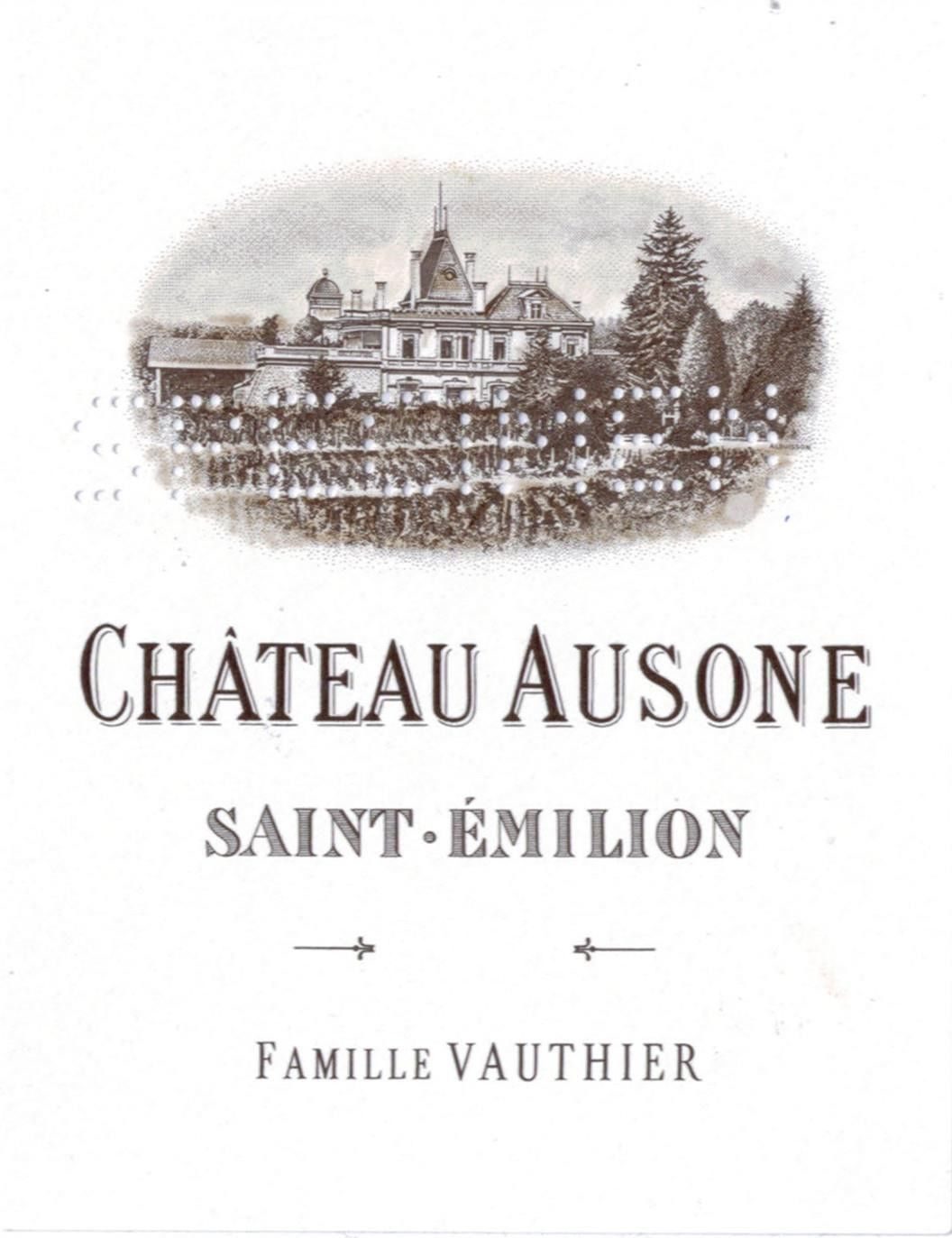 Chateau Ausone (Futures Pre-Sale) 2019  Front Label