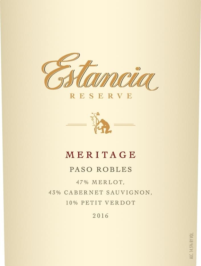 Estancia Reserve Meritage Red (375ML half-bottle) 2016  Front Label
