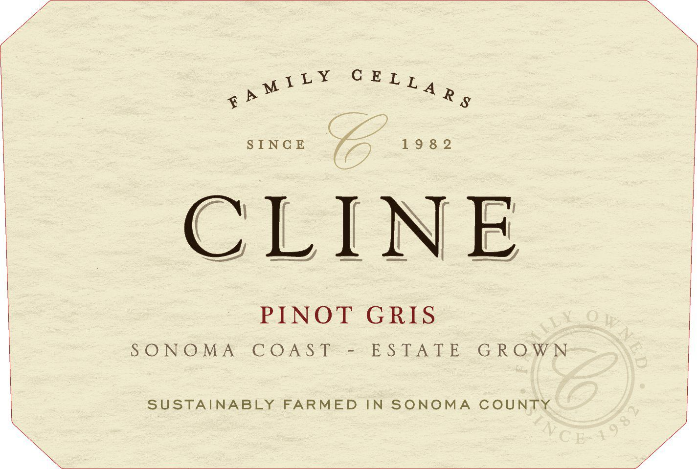 Cline Pinot Gris 2018  Front Label