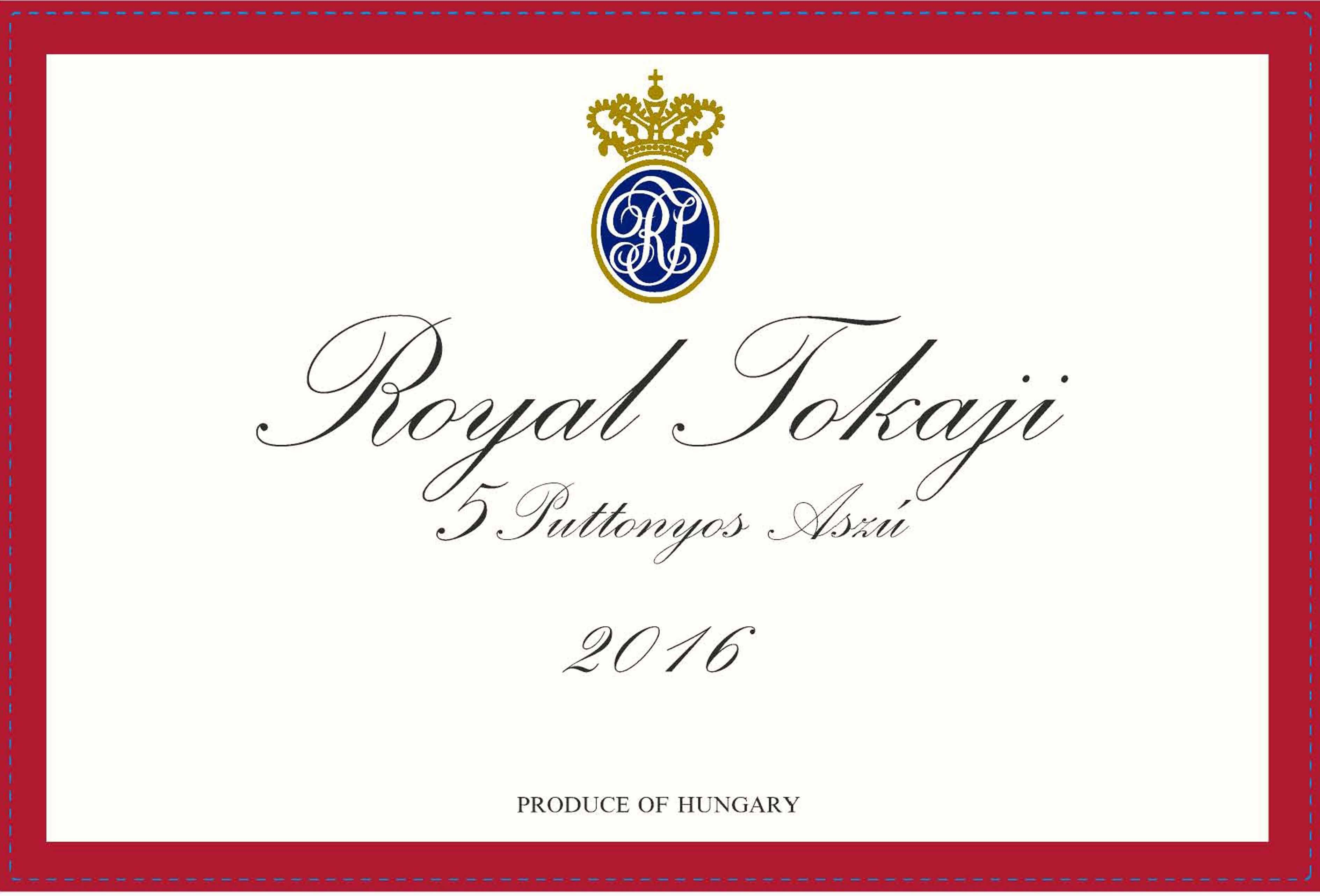 Royal Tokaji 5 Puttonyos (Red Label) (500ML) 2016  Front Label