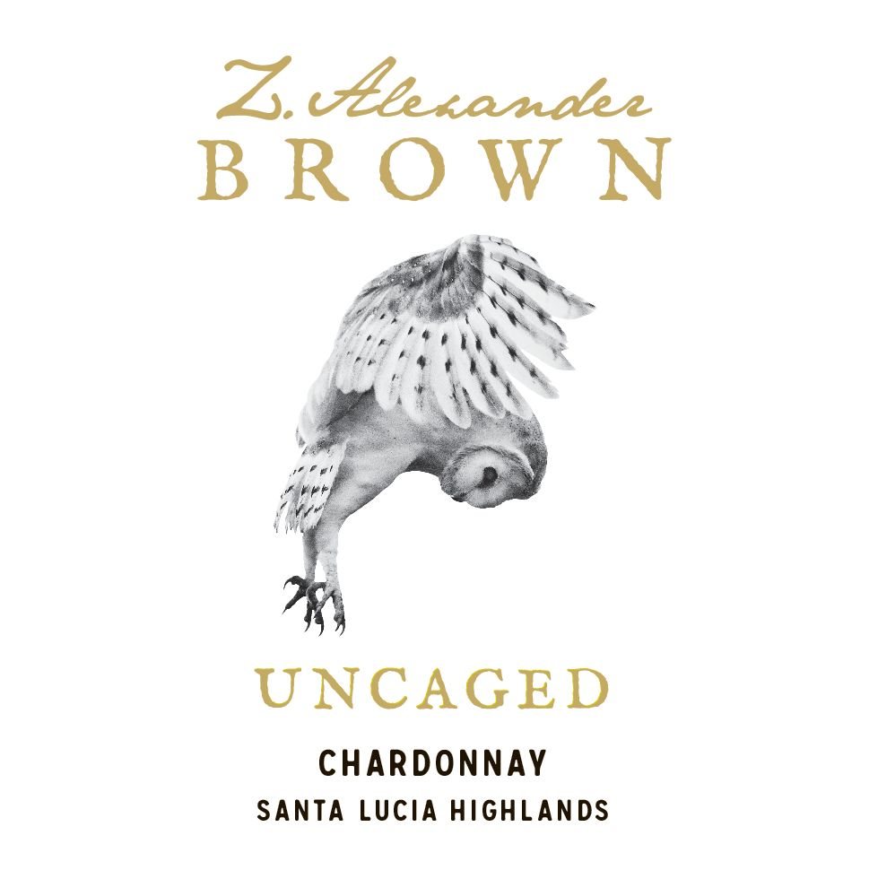Z. Alexander Brown Uncaged Chardonnay 2017  Front Label