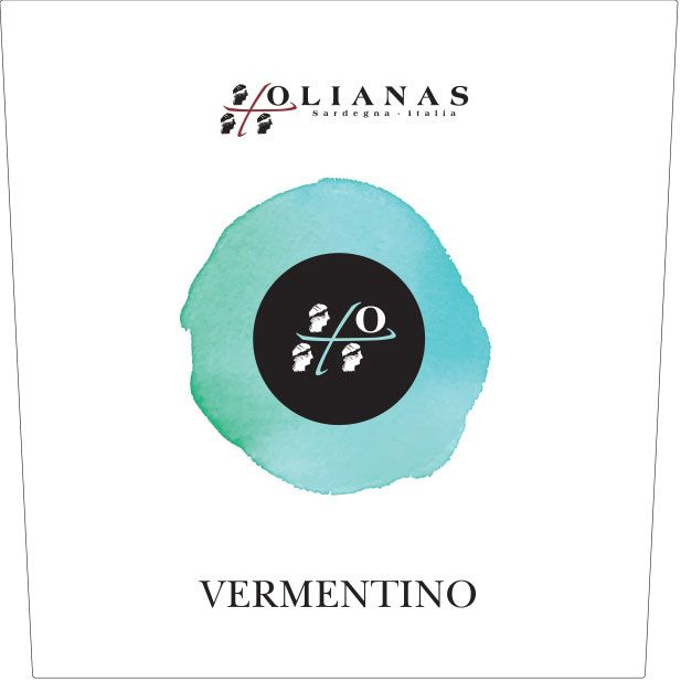 Olianas Vermentino 2017  Front Label