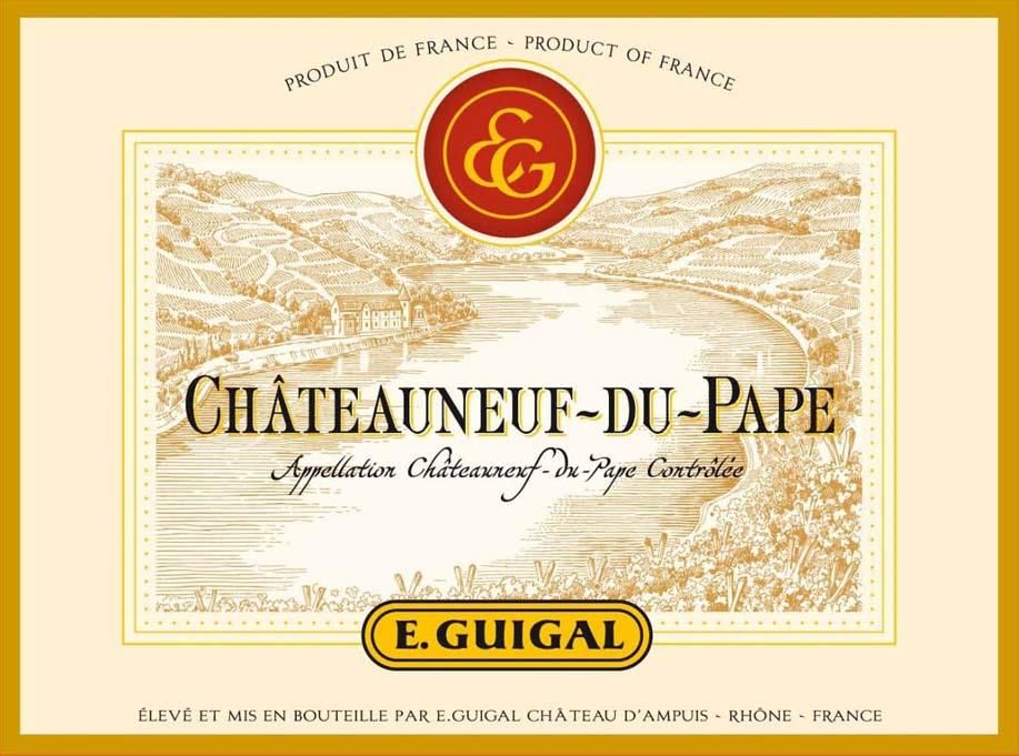 Guigal Chateauneuf-du-Pape 2015 Front Label