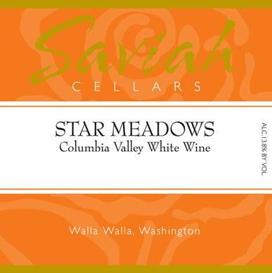 Saviah Star Meadows White 2010 Front Label