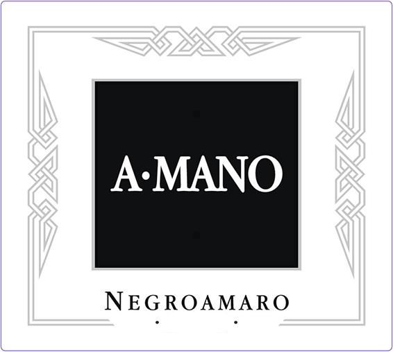 A Mano Negroamaro 2016 Front Label