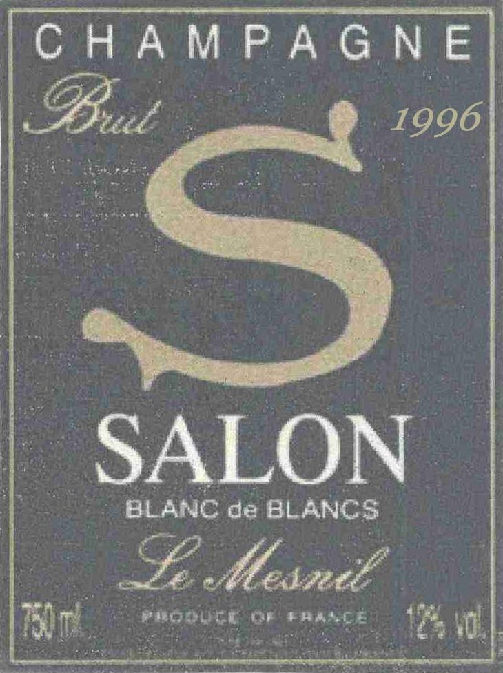 Salon Blanc de Blancs Le Mesnil 1996  Front Label