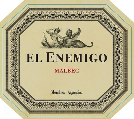 El Enemigo  Malbec 2016  Front Label