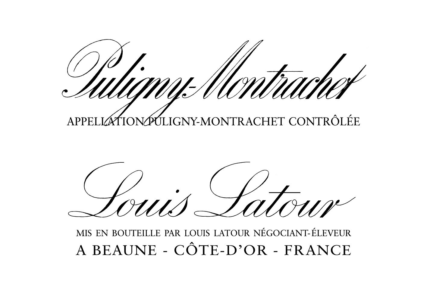 Louis Latour Puligny-Montrachet (375ML half-bottle) 2016 Front Label