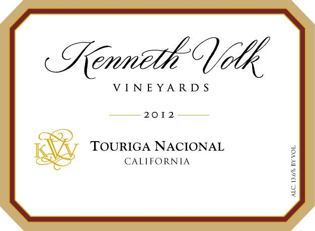 Kenneth Volk Touriga Nacional 2012 Front Label