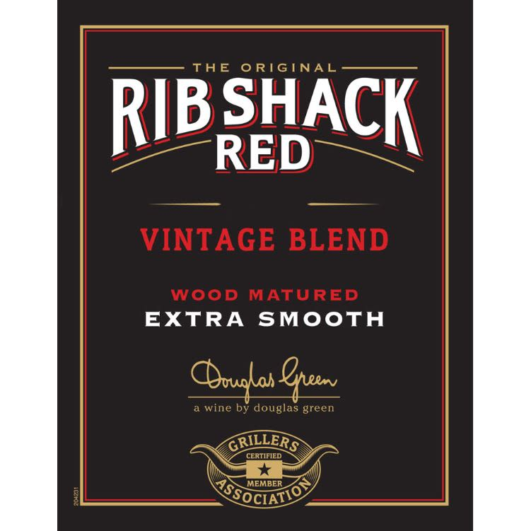 Rib Shack Red Blend 2019  Front Label