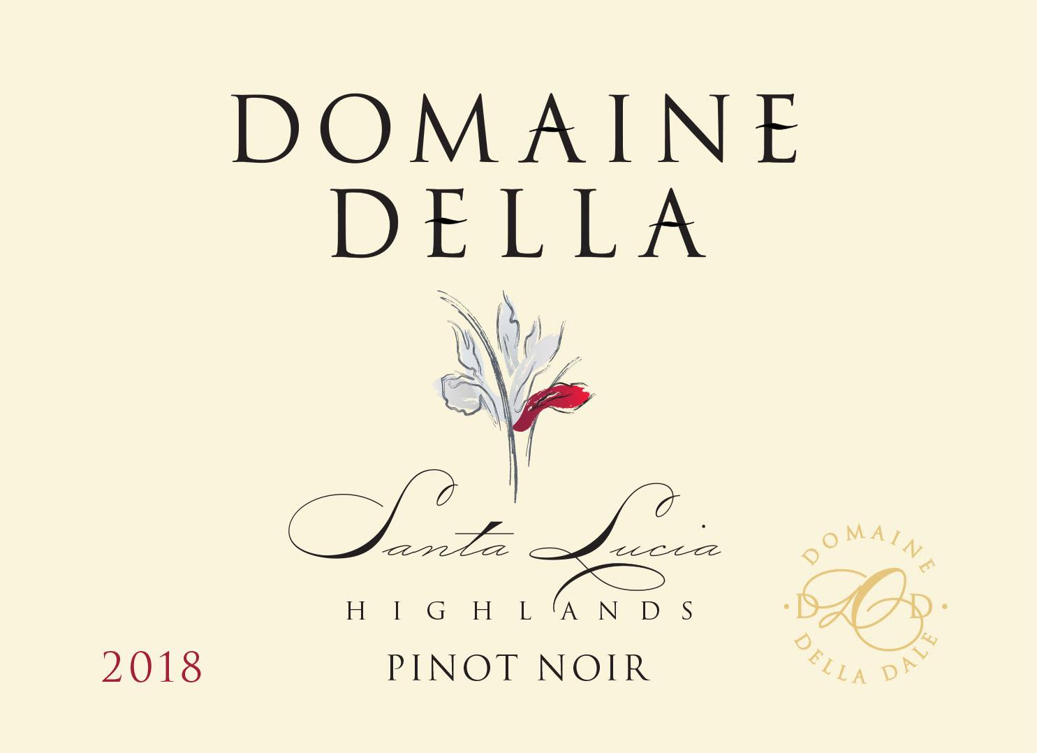 Domaine Della Santa Lucia Highlands Pinot Noir 2018  Front Label