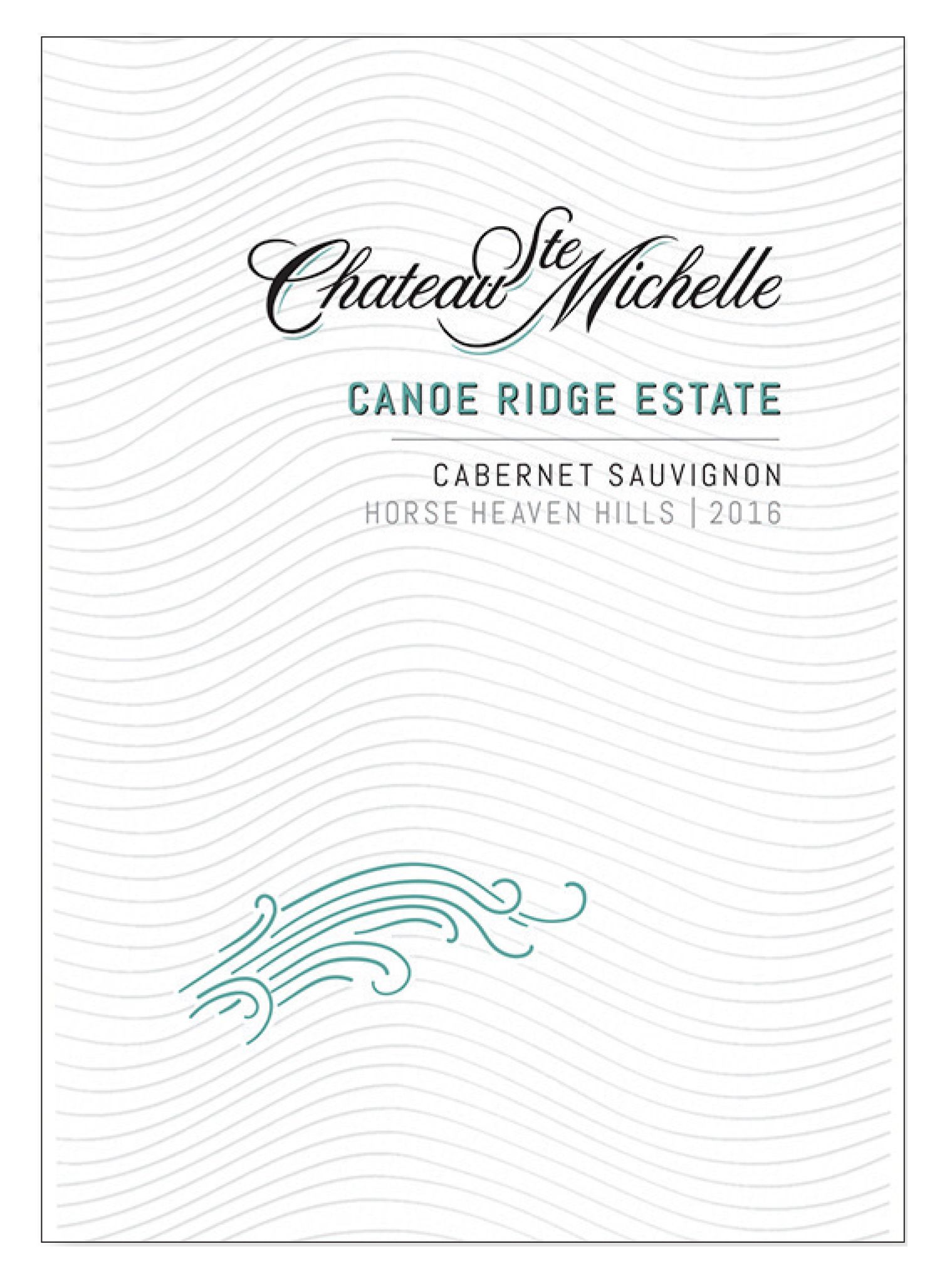 Chateau Ste. Michelle Canoe Ridge Estate Cabernet Sauvignon 2016  Front Label