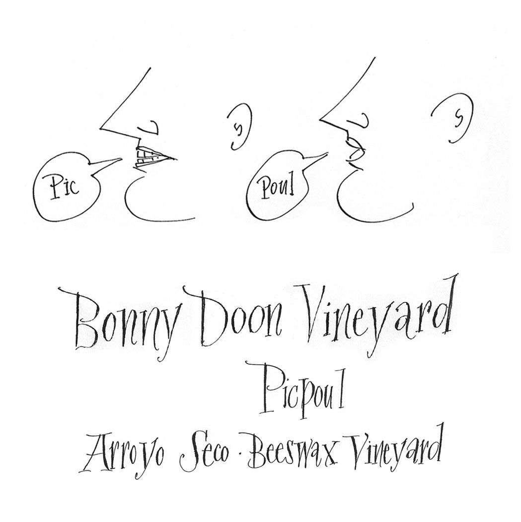 Bonny Doon Beeswax Vineyard Picpoul 2018 Front Label