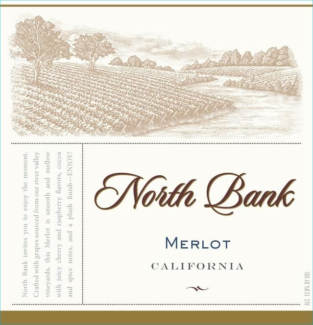 North Bank Merlot  Front Label