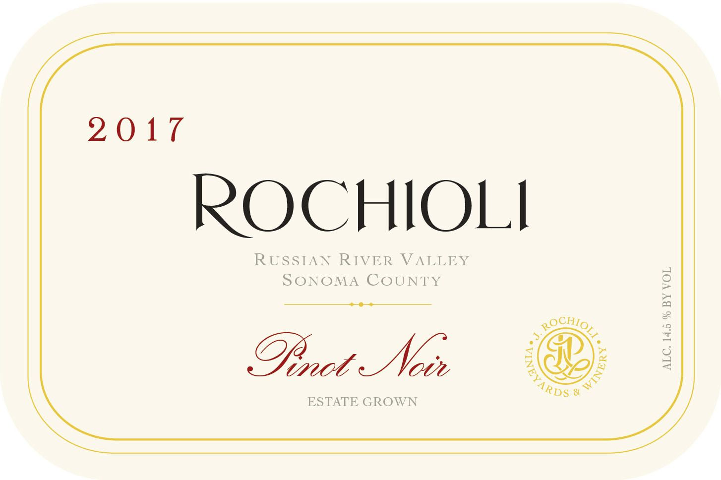 Rochioli Estate Pinot Noir 2017  Front Label
