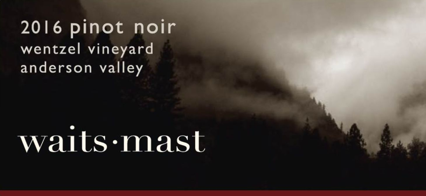 Waits-Mast Family Cellars Wentzel Pinot Noir 2016  Front Label