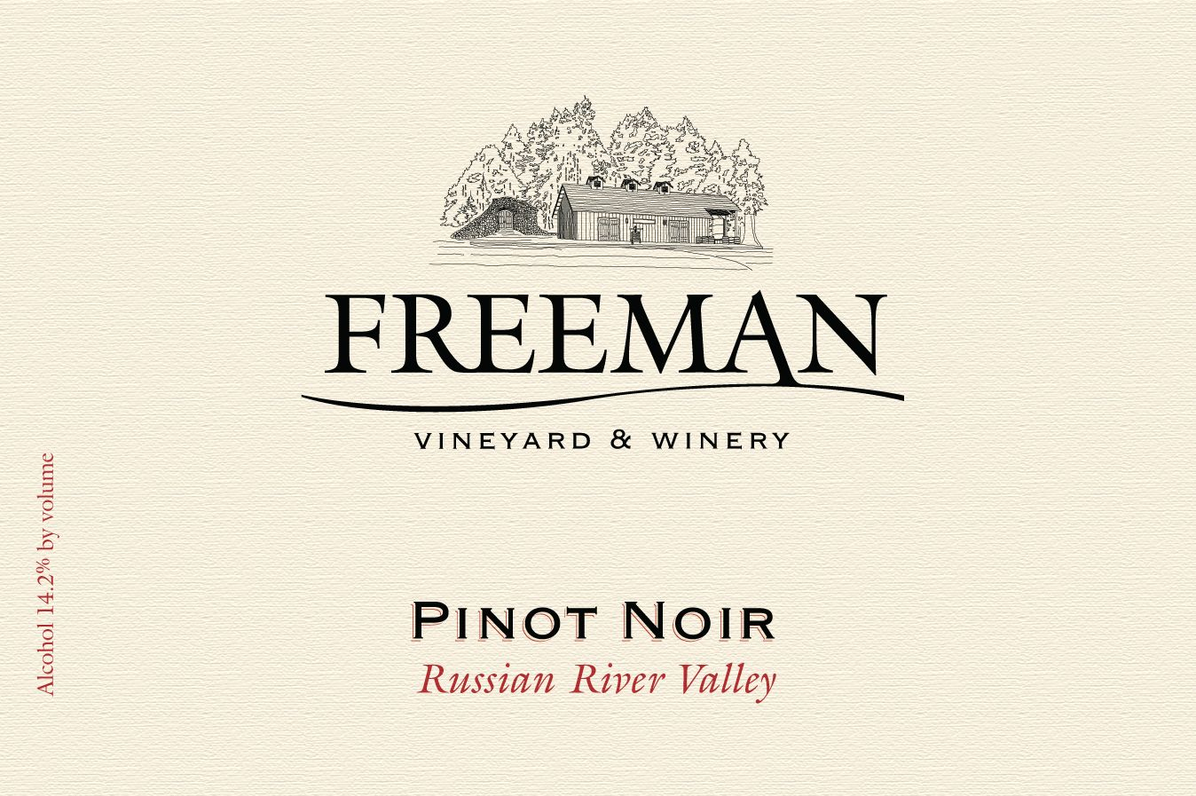 Freeman Russian River Pinot Noir 2016 Front Label