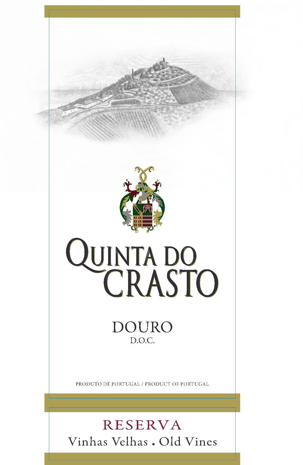 Quinta do Crasto Douro Red Reserva Old Vines 2015  Front Label