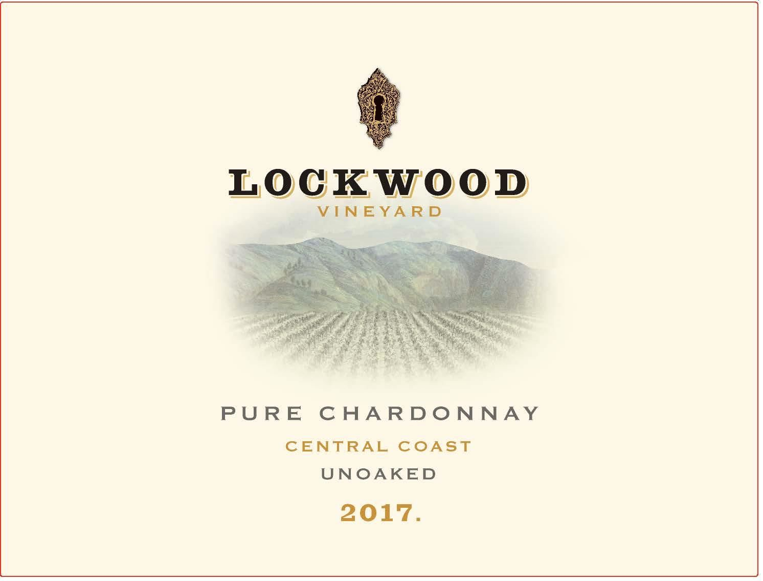 Lockwood Pure Unoaked Chardonnay 2017  Front Label