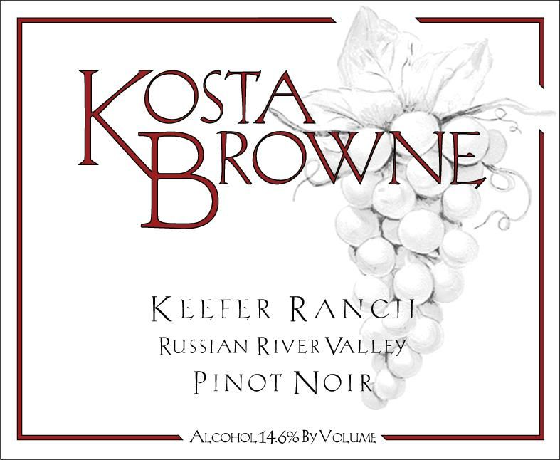 Kosta Browne Keefer Ranch Vineyard Pinot Noir 2007  Front Label