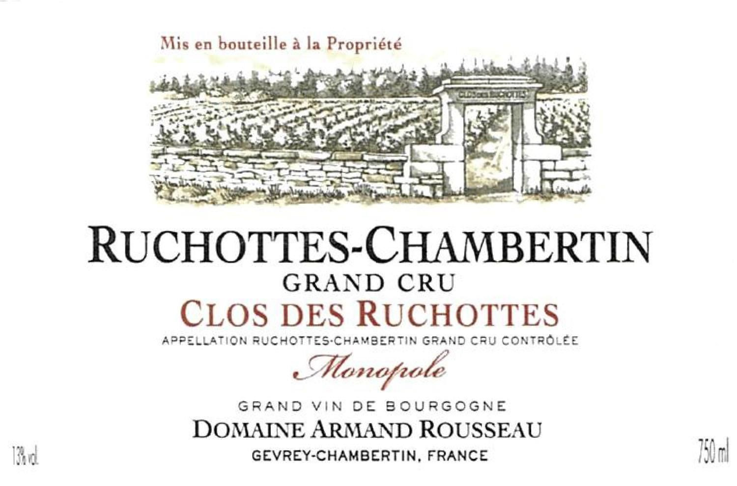 Domaine Armand Rousseau Ruchottes-Chambertin Clos des Ruchottes Grand Cru 2016  Front Label