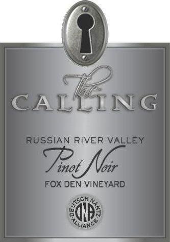 The Calling Fox Den Pinot Noir 2016 Front Label
