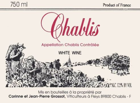 Grossot Chablis 2017 Front Label