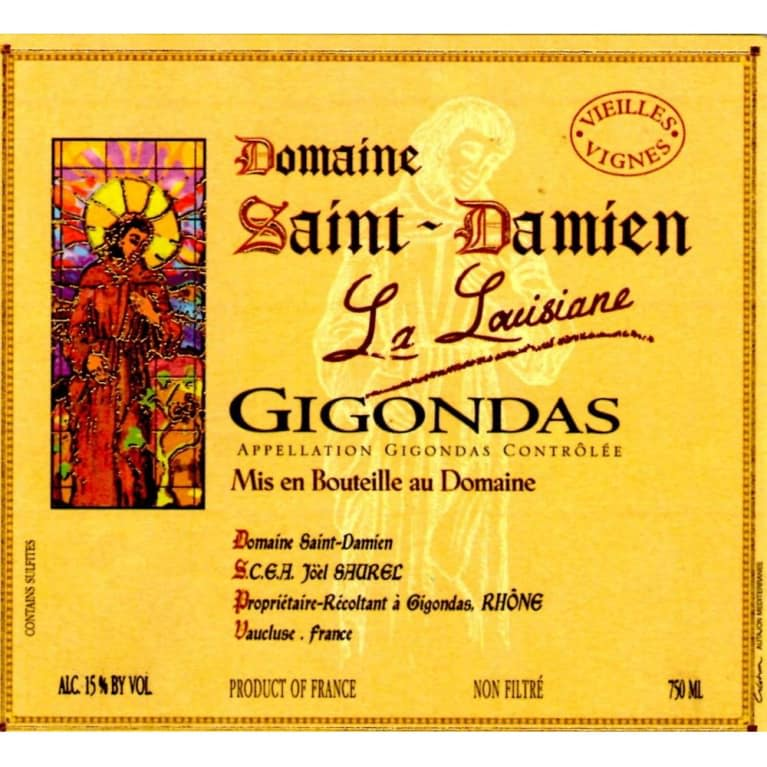 Domaine St. Damien Gigondas La Louisiane 2017  Front Label