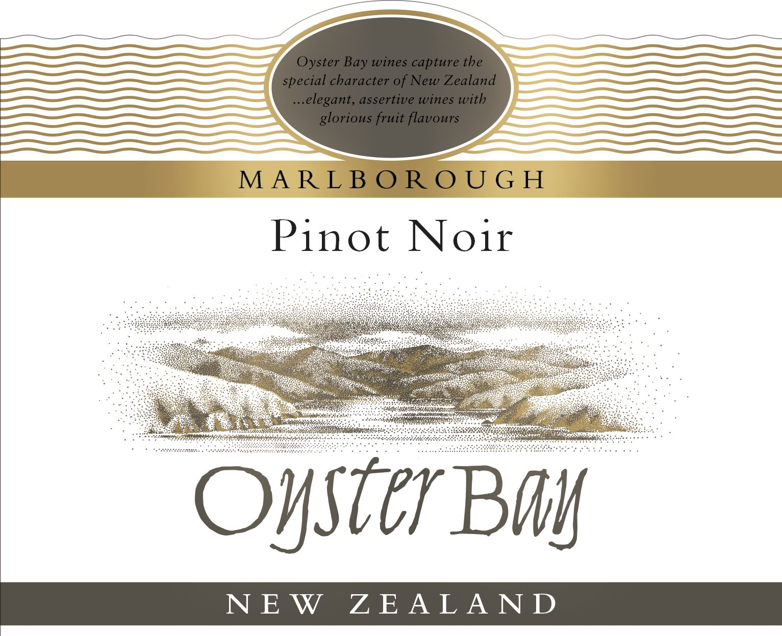 Oyster Bay Marlborough Pinot Noir 2018  Front Label